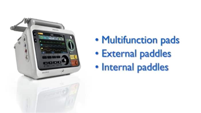 Manual Defibrillation with the Efficia DFM100 monitor/defibrillator